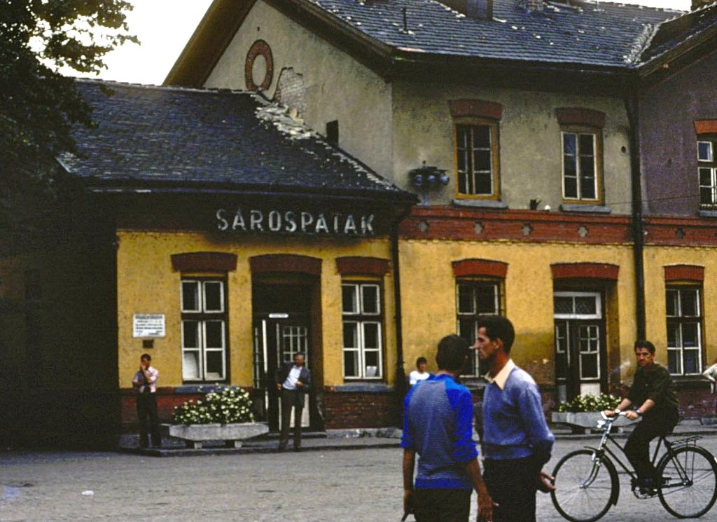 Train station, Sarospatak Hungary 1977