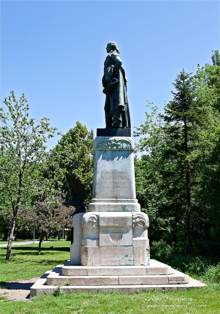 Statue of George Washington in Budapest City Park