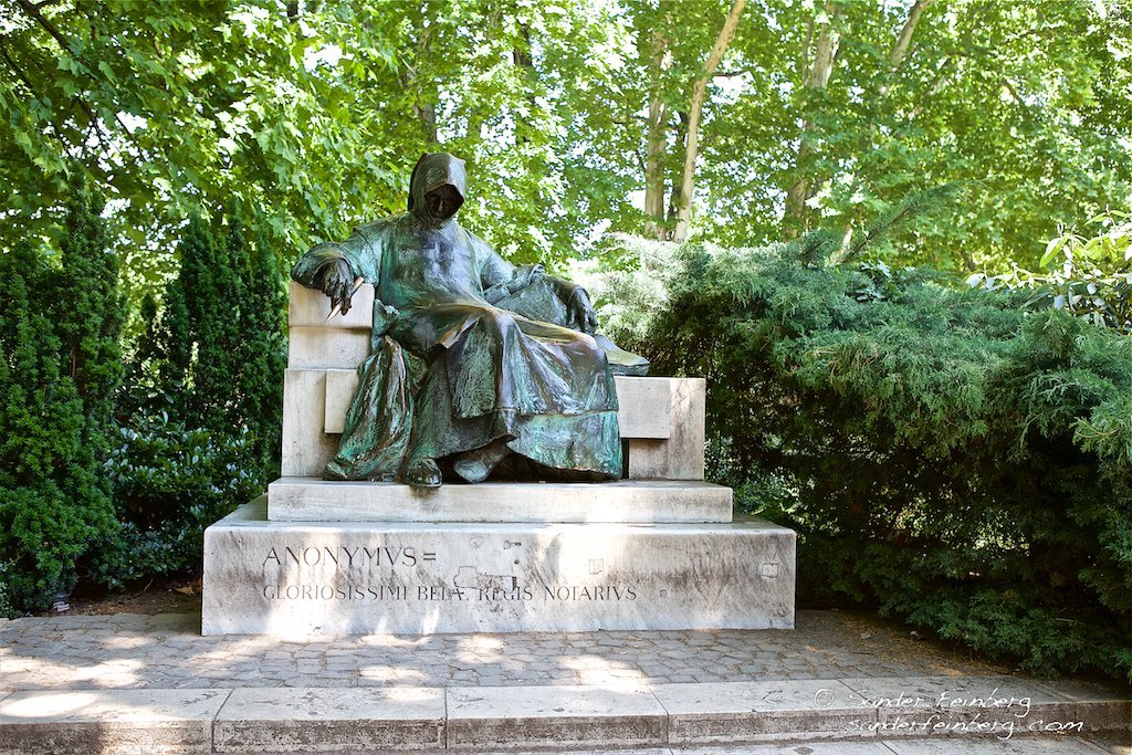 Statue of Anonymous in Budapest City Park