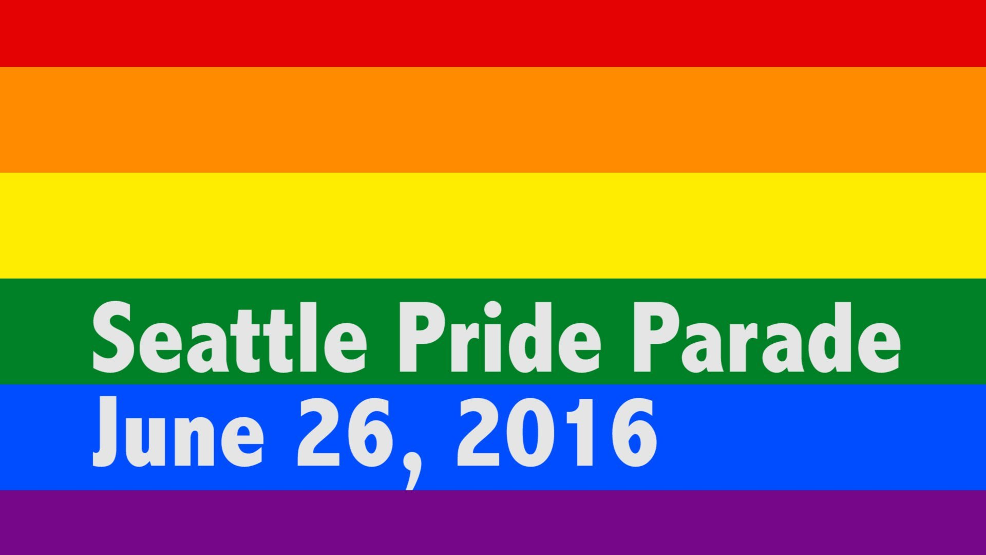 Seattle Pride Parade 2016 – Video