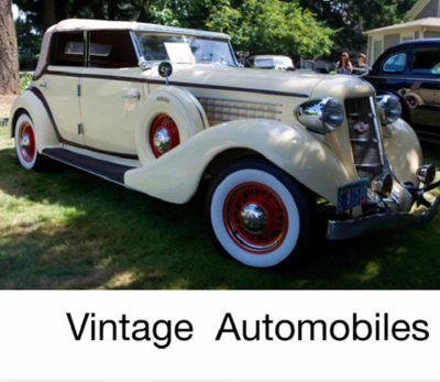 Vintage Auto Mini Book